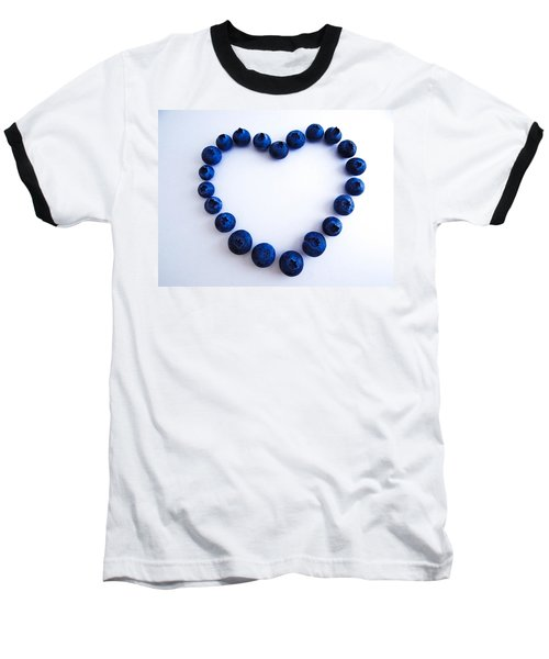 Baseball T-Shirt featuring the photograph Blueberry Heart by Julia Wilcox