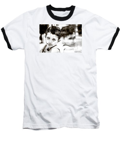 Baseball T-Shirt featuring the photograph Blurred Thoughts by Stwayne Keubrick