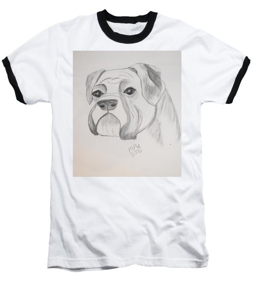 Baseball T-Shirt featuring the drawing Boxer No Crop by Maria Urso