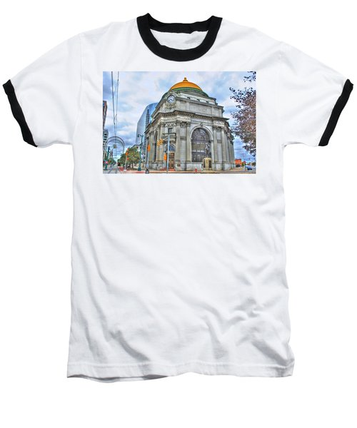 Baseball T-Shirt featuring the photograph Buffalo Savings Bank  Goldome  M And T Bank Branch by Michael Frank Jr