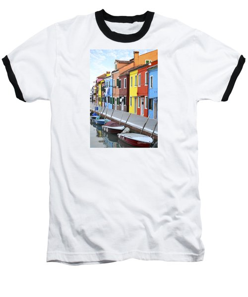 Baseball T-Shirt featuring the photograph Burano Italy 2 by Rebecca Margraf