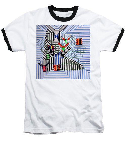 Baseball T-Shirt featuring the painting Burwood Breeze by Mark Howard Jones