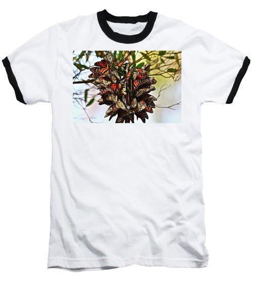 Butterfly Bouquet Baseball T-Shirt
