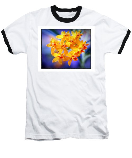 Butterfly Weed Baseball T-Shirt by Judi Bagwell