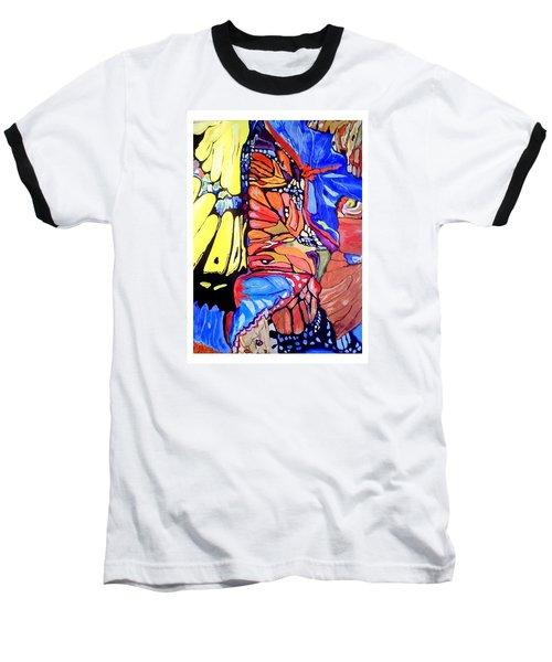 Butterfly Wings Baseball T-Shirt by Sandra Lira