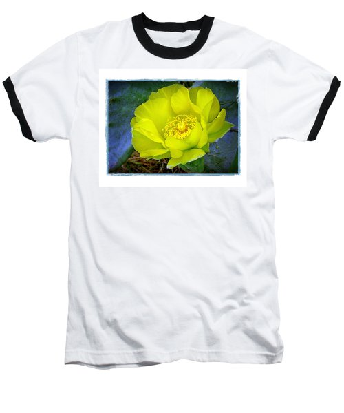 Baseball T-Shirt featuring the photograph Cactus Flower by Judi Bagwell