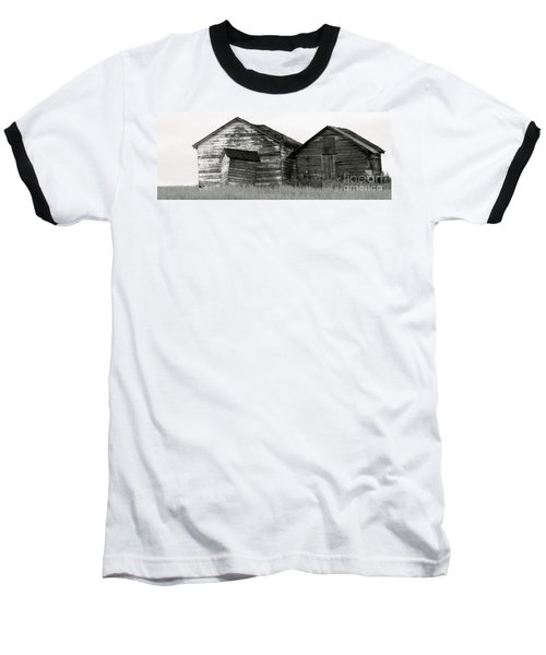 Baseball T-Shirt featuring the photograph Canadian Barns by Jerry Fornarotto