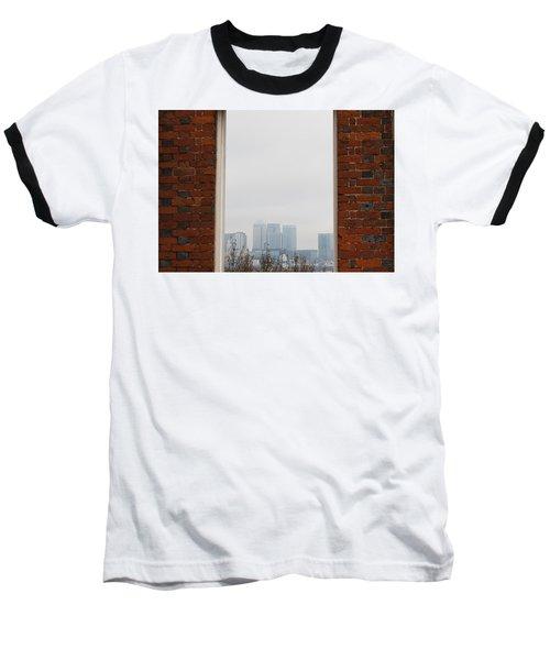 Baseball T-Shirt featuring the photograph Canary Wharf View by Maj Seda