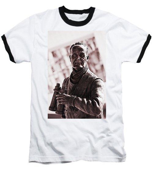 Captain F J Walker Baseball T-Shirt by Meirion Matthias