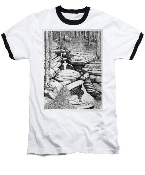 Cascade In Boulders Baseball T-Shirt