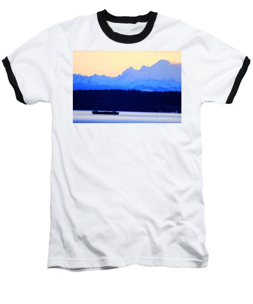 Washington Puget Sound Cascade Waterway Baseball T-Shirt