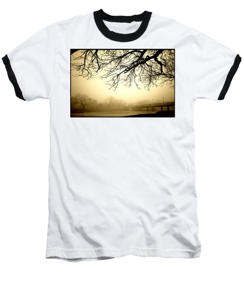 Baseball T-Shirt featuring the photograph Castle In The Fog by Brian Duram