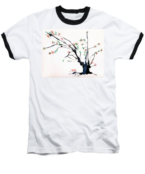 Cherry Tree By Straw Baseball T-Shirt