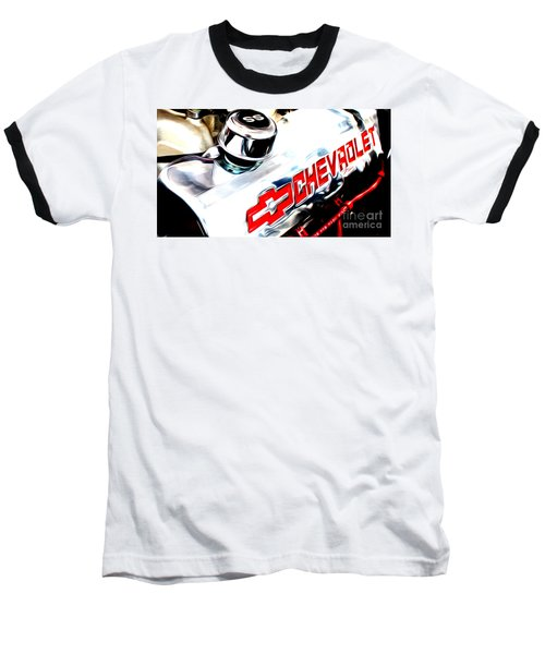 Baseball T-Shirt featuring the digital art Chevy Power by Tony Cooper