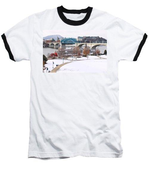 Christmas Snow Baseball T-Shirt