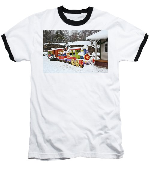 Christmas Train Baseball T-Shirt