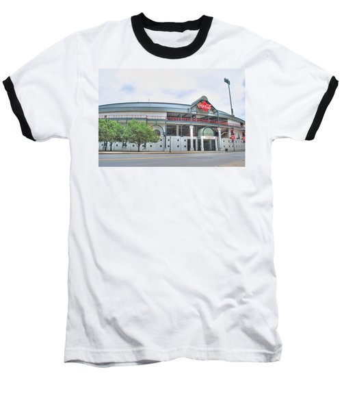 Baseball T-Shirt featuring the photograph Coca Cola Field  by Michael Frank Jr