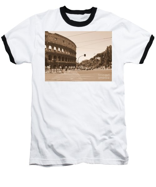 Colosseum In Sepia Baseball T-Shirt