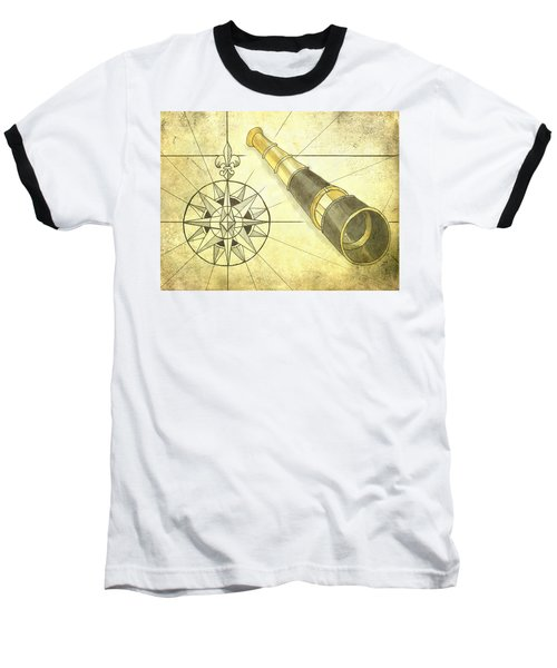 Compass And Monocular Baseball T-Shirt