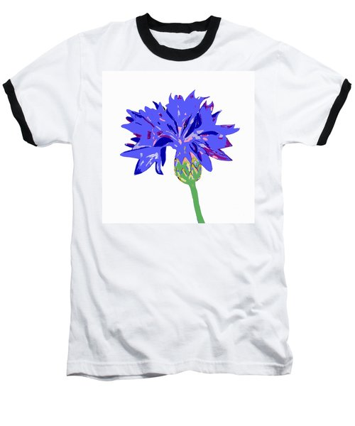 Baseball T-Shirt featuring the digital art Cornflower by Barbara Moignard