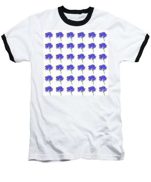 Baseball T-Shirt featuring the digital art Cornflowers by Barbara Moignard