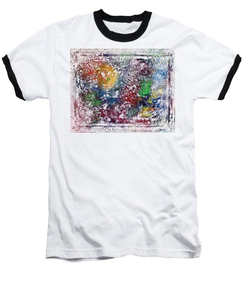 Baseball T-Shirt featuring the painting Cosmos by Alys Caviness-Gober