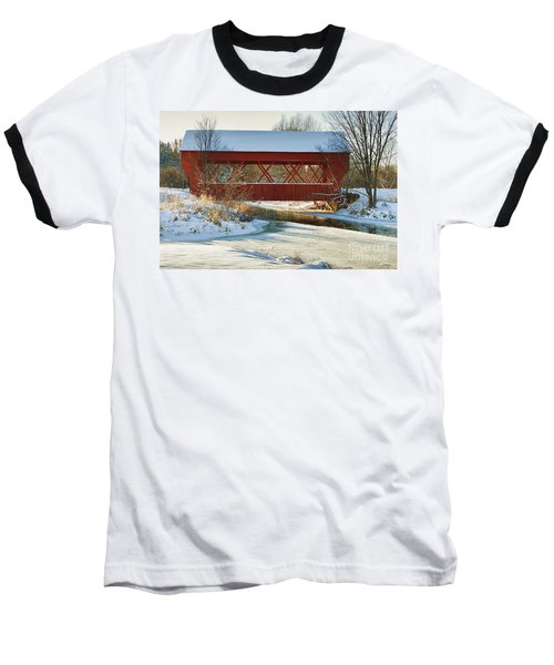 Baseball T-Shirt featuring the photograph Covered Bridge by Eunice Gibb