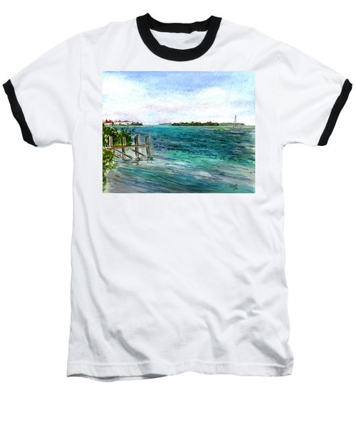 Cudjoe Bay Baseball T-Shirt by Clara Sue Beym