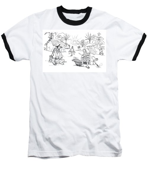 Daily Life In South And Center Cameroon 03 Baseball T-Shirt by Emmanuel Baliyanga