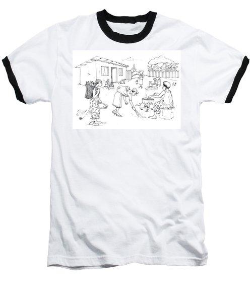 Daily Life In South And Center Cameroon 10 Baseball T-Shirt by Emmanuel Baliyanga