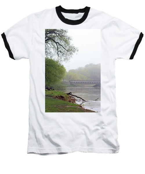 Baseball T-Shirt featuring the photograph Early Spring Morning Fog by Kay Novy
