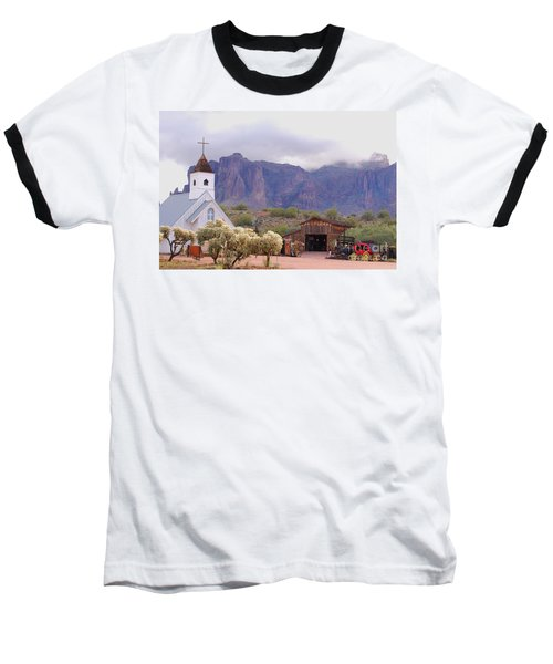 Baseball T-Shirt featuring the photograph Elvis Memorial Chapel by Tam Ryan