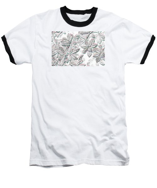 Baseball T-Shirt featuring the photograph Embossed Crotons by Tom Wurl