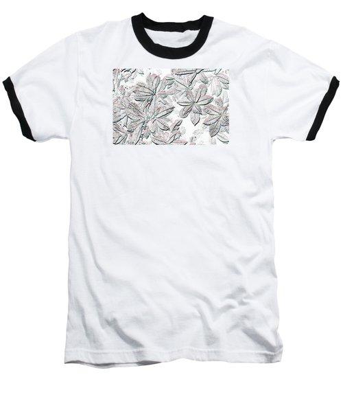 Embossed Crotons Baseball T-Shirt by Tom Wurl
