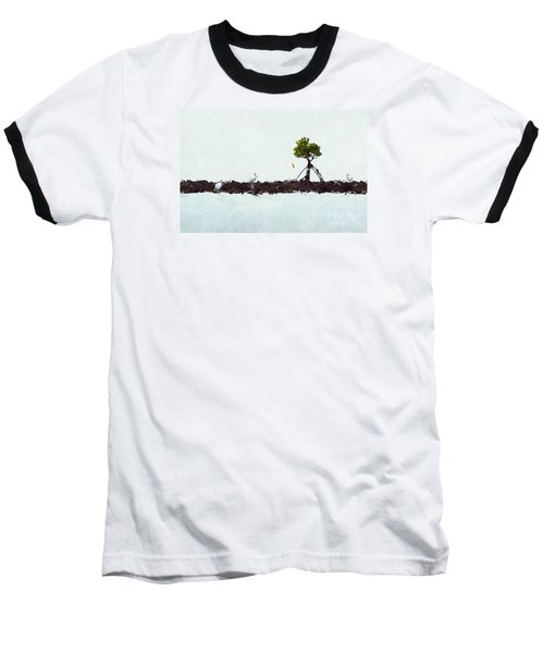 Falling Mangrove Leaf Baseball T-Shirt by Dan Friend