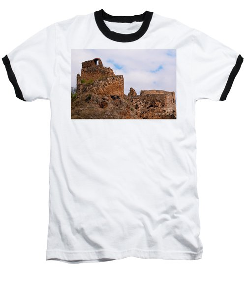 Baseball T-Shirt featuring the photograph Filakovo Hrad - Castle by Les Palenik