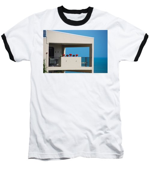 Baseball T-Shirt featuring the photograph Flower Pots Five by John Schneider