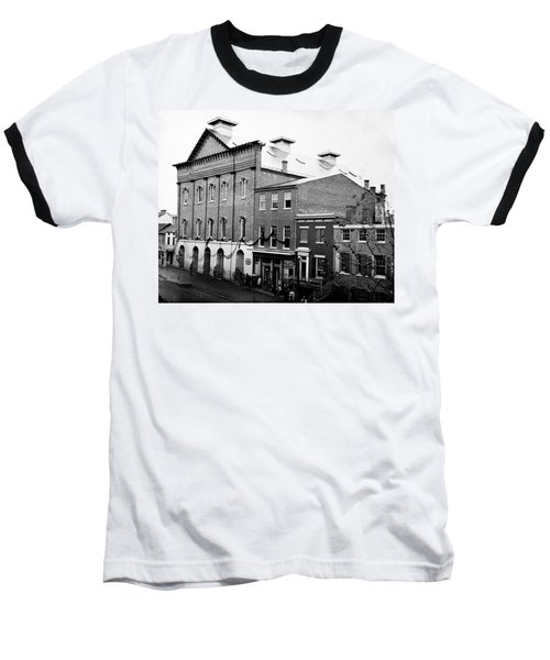 Baseball T-Shirt featuring the photograph Fords Theater - After Lincolns Assasination - 1865 by International  Images