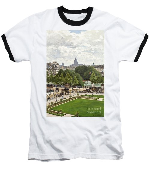 Garden Of The Princess Baseball T-Shirt by Claude Monet