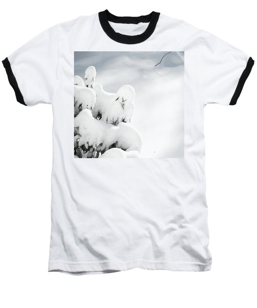Baseball T-Shirt featuring the photograph Ghostly Snow Covered Bush by Pamela Hyde Wilson