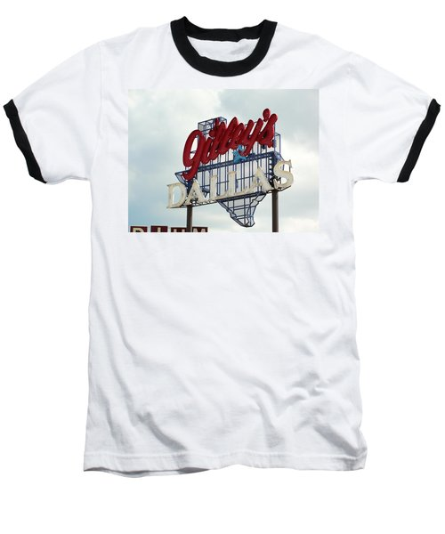 Baseball T-Shirt featuring the photograph Gilleys Dallas by Charlie and Norma Brock