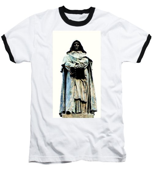 Giordano Bruno Monument Baseball T-Shirt by Roberto Prusso
