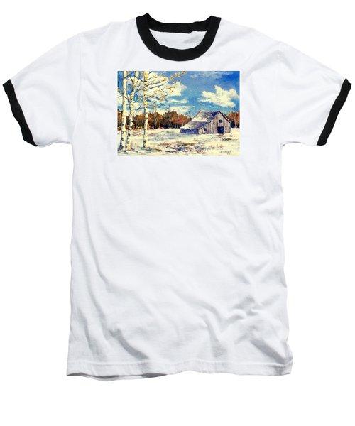 Grandma's Barn Baseball T-Shirt by Lou Ann Bagnall