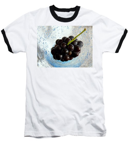 Grape Cluster In Biot Glass Baseball T-Shirt by Lainie Wrightson