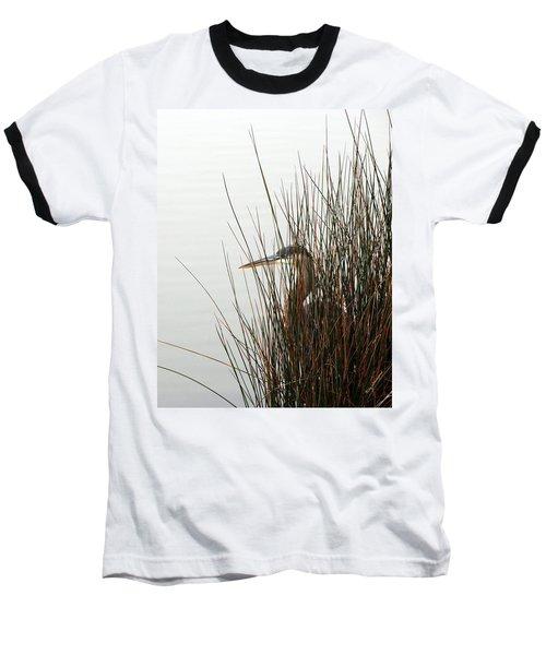 Great Blue Heron Baseball T-Shirt by Kay Lovingood