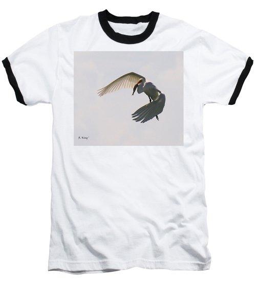 Great Egret Successful Fishing Baseball T-Shirt
