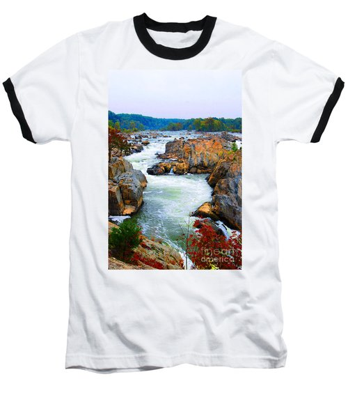 Great Falls On The Potomac River In Virginia Baseball T-Shirt
