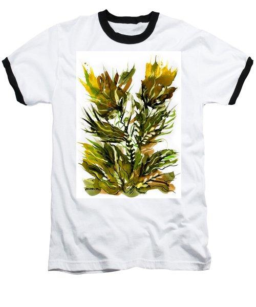 Green Flames Baseball T-Shirt