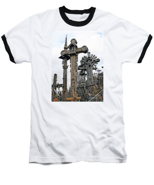 Hill Of Crosses 09. Lithuania Baseball T-Shirt by Ausra Huntington nee Paulauskaite