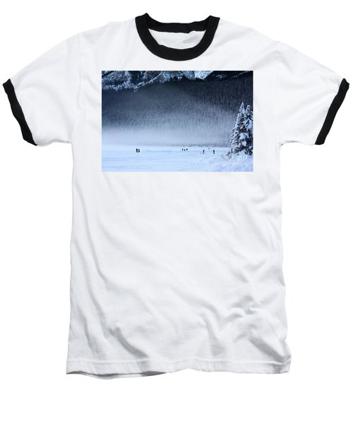 Hockey On Lake Louise Baseball T-Shirt by Alyce Taylor
